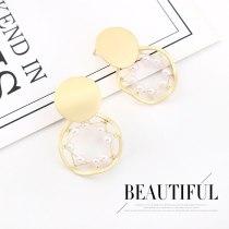 European and American Vintage Pearl Earrings Female Hipster Simple Cool S925 Silver Needle Stud Earrings  B-4476