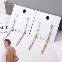 New European and American Fashion Elegant Zircon Stud Earrings  Women's Knotted Tassel Earrings Anti-Allergy Jewelry 138974
