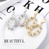 Women's Korean-Style Fashionable Small Ball Earrings S925 Silver Zircon Earrings 138845