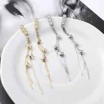 New Korean Fashion Temperament Five-Pointed Star Ear Stud Girl's Star Tassel Earrings Anti-Allergy Silver Needle Ear Stud 138841