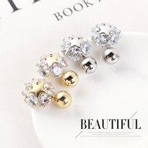 New Korean Earrings Temperament Fashion Personality Zircon Earrings Female Star S925 Needles Stud Earrings Jewelry 140375