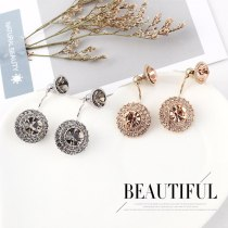 Europe Creative Personality Retro Crystal Earrings Lady Temperament Wild S925 Needles Stud Earrings Jewelry 140470