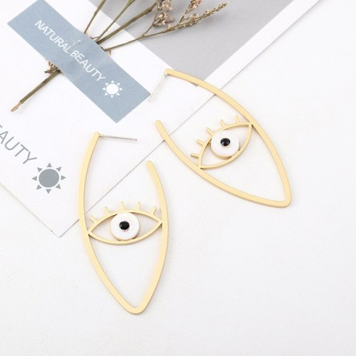 European and American Fashion Exaggerated Cool Eye Earrings Female Creative S925 Silver Needle Stud Earrings Jewelry B-4518