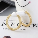 New European Famous Stud Earrings Fashion Exaggerated Irregular C- Shaped Letter Earrings 925 Sterling Silver Pin 138880