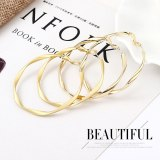 European and American 925 Silver Needle Great Circle Earrings Women's Simple All-match Earrings C- Shaped Accessories 138689