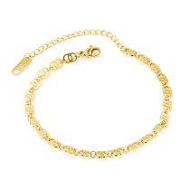 Japanese and Korean Fashion All-match Simple Titanium Steel Women's Anklet jewelry Wholesale Gb108