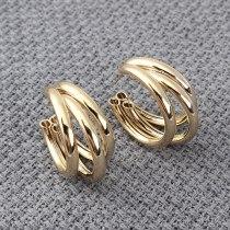 Creative Metal Stud earrings Female Fashion Simple C- Shaped Semicircle Hollow Earrings 925 Silver Needle earrings 139858