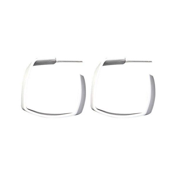 New European and American Exaggerated Square Earrings Elegant Stud Earrings S925 Anti-Allergy Earrings 138851