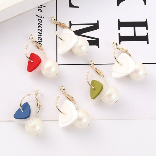 S925 Silver Needle Korean Hipster Pearl Earrings Women's Creative Fashion All-match Ear Rings Wholesale 140190