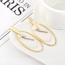 European Simple Letter Resin Acrylic Earrings Ladies Cool Fashion All-match S925 Silver Pin Small Jewelry Batch Hair B-4460