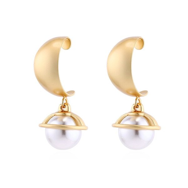 Creative Cool Pearl Earrings Women's Simple and Versatile Geometric Earrings S925 Silver Needle AntiAllergy Small Jewelry 140007