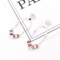 European Creative Exaggerated Zircon Earrings Women's All-match Fashion S925 Sterling Silver Needle Earrings Jewelry B-4424