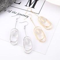 European Fashion All-match Geometric Hollow Ball Acrylic Earrings Female Long Simple Imitation Pearl Earrings Wholesale 139568