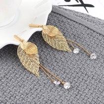 New Korean Fashion Tassel Earrings Ladies Temperament Small Tree Leaves Earrings Pendant Wholesale 139825
