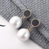 Korean Simple Fashion Pearl Earrings S925 Sterling Silver Needle Stud Earrings Girl's Heart All-match Temperament Earrings139861