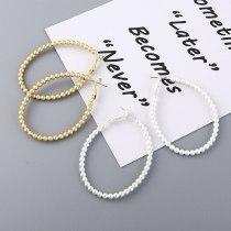 Europe Personality Earrings Female Fashion Beaded Ring Earring Hypoallergenic Sterling Silver Needle Stud Earrings 138874