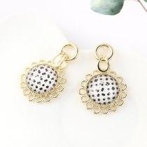Korean-Style Sunflower Earrings Women's Fashion Creative Hipster Flower Ear Pendant S925 Silver Pin Jewelry B-4474