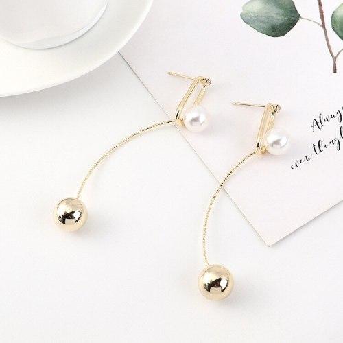 New Creative Korean Fashion Pearl Earrings Female Temperament Tassel Earrings S925 Silver Needle Jewelry B-4508