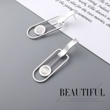 European Creative Fashion Pendulum Earrings Vintage Cool Watch Earrings Female Sterling Silver Pin Small Jewelry 138889