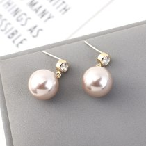 Korean Exquisite Small Pearl Earrings Women's Simple and Versatile Fashion S925 Sterling Silver Needle Stud Earrings  B-4463
