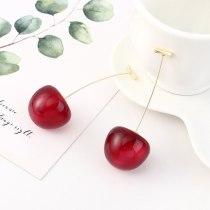 New Korean Cute Cherry Stud Earrings Ear Pendant Girl's Heart Simple S925 Sterling Silver Needle Earrings B-4525