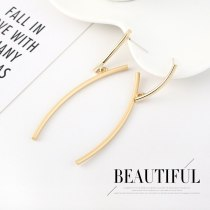 EuropeanCreative Branch Y Letter Earrings Women's Fashion Creative All-match Cool Earrings 925 Silver Needle B-4507