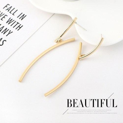 EuropeanCreative Branch Y Letter Earrings Women's Fashion Creative All-match Cool Earrings 925 Silver Needle B-4507