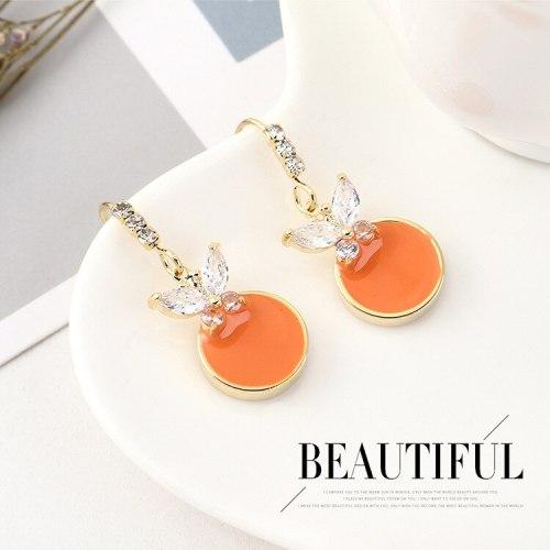 Europe Simple Cute Earrings Girls Hipster Butterfly Zircon Earrings Fashion Wild Jewelry B-4475