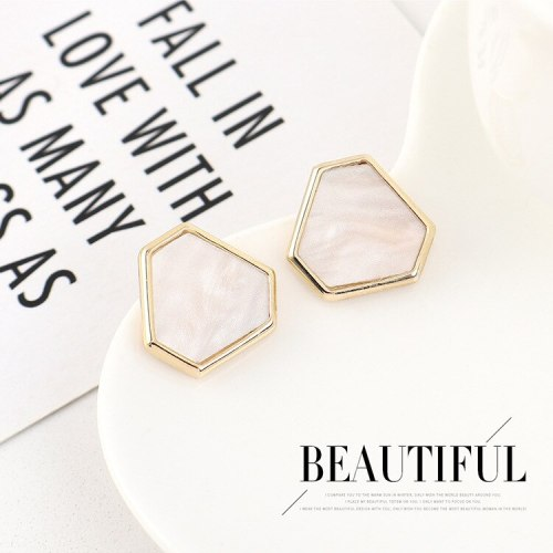 New Korean Exquisite Geometric Resin Stud Earrings Female Fashion Simple Hipster Earrings S925 Silver Pin Jewelry B-4512