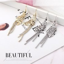 Foreign Trade Fashion Exaggerated Personality Geometric Round Sequined Earrings Female Tassel Earrings Popular Jewelry 138955