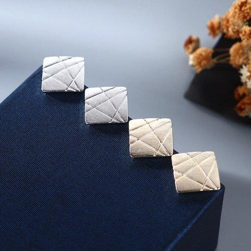 S925 Sterling Silver Earrings European and American Retro Simple Versatile Diamond Earrings Female CoolStud Earrings B-4856