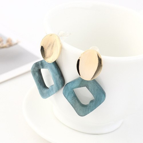 Korean Fashion Acrylic Earrings Female Simple Hipster All-match S925 Silver Needle Stud Earrings Jewelry Batch Hair B-4529