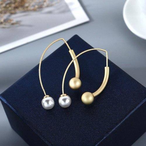 New French Retro Pearl Earrings Women's Fashion All-match Popular Stud Earrings Jewelry B-4849