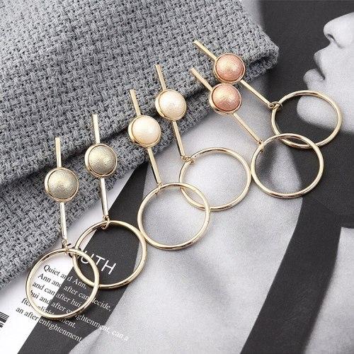 European Simple All-match Pearl Earrings Female Fashion Geometric Hollow Earrings S925 Sterling Silver Needle Jewelry 139883
