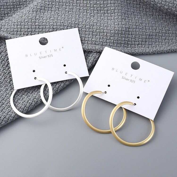 S925 Silver Needle European Creative New Earrings Cool All-match Ring Ear Ring Female Earrings Fashion Jewelry 138878