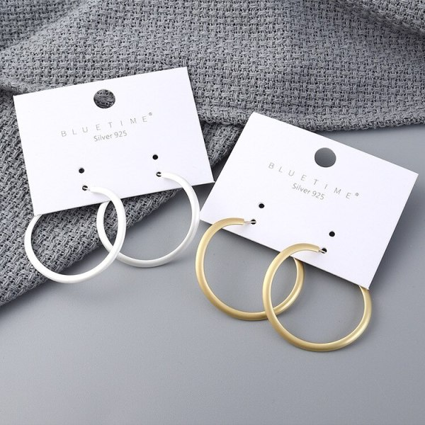 S925 Silver Needle European Creative New Earrings Cool All-match Ring Ear Ring Female Earrings Fashion Jewelry 138878
