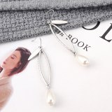 New European Creative Fashion Pearl Earrings Women's Simple and Versatile Geometric Hollow Earrings Small Jewelry 139836