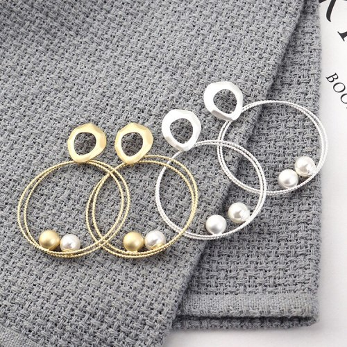 New European Exaggerated Creative Double Layer Great Circle Earrings Women's Fashion Simple All-match Earrings Wholesale 140003