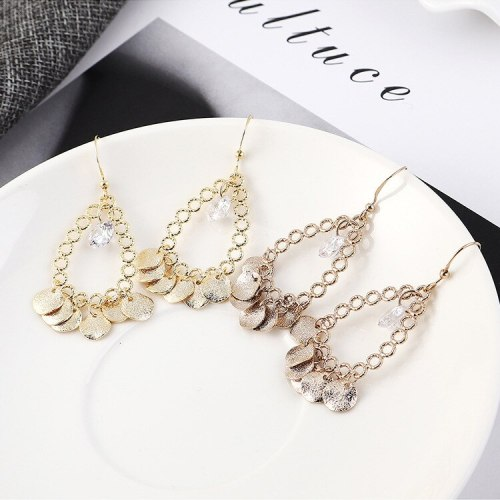 European and American Creative Exaggerated Drop-Shaped Ear Stud Women's Fashion Temperament Small Circle Earrings 138984