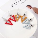 European and American Fashion Cool Matte Candy-Colored Earrings Female Earrings 139589