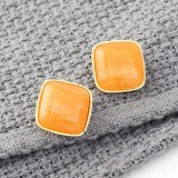 Korean Fashion Simple Candy-Colored Acrylic Earrings Women's Cool All-match Square Resin Earrings Small Jewelry 139998