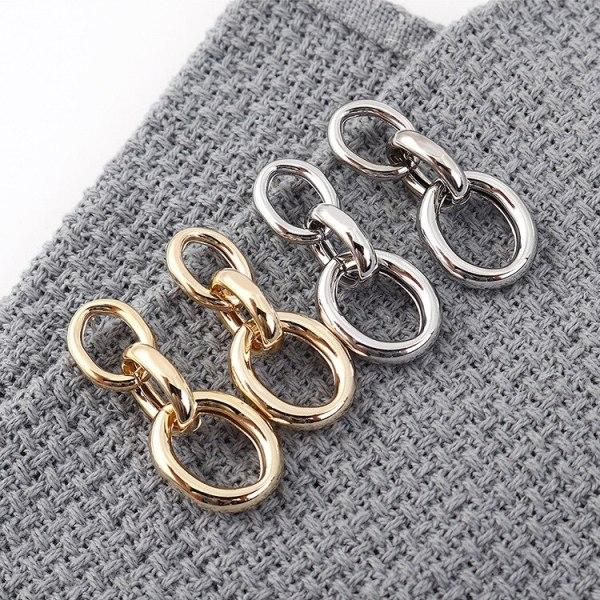 European New Simple Metal Earrings Women's All-match Anti-Allergy Sterling Silver Needle Ring Hollow Stud Earrings 139911