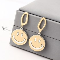 Korean Simple Hipster Smiley Face Smiling Earrings Cute Girl Heart Student All-match S925 Silver Needle Jewelry 139993