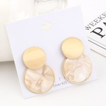 European Creative Earrings Acrylic Earrings Women's All-match Fashion Circle S925 Silver Needle Stud Earrings 140560