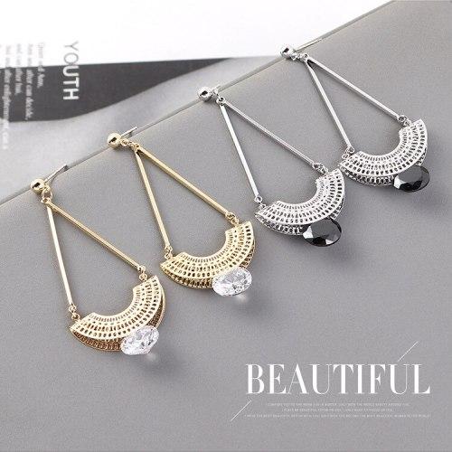 European Creative Retro National Style Tassel Earrings Women's Cool All-match S925 Silver Needle Earrings Jewelry 140399