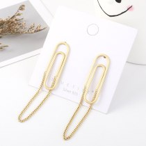 European Exaggerated Earrings Women's Fashion Creative Personalized Paper Clip S92 5 Silver Needle Earrings Small Jewelry 140567