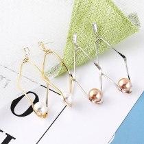 European Exaggerated Diamond-Set Zircon Geometric Pearl Earrings Female High-End Earrings S925 Silver Needle Earrings 138715