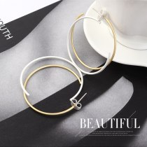 The New European Creative Personality Fashion Vintage Earrings Female Wild Color Circle S925 Needles Jewelry 140141