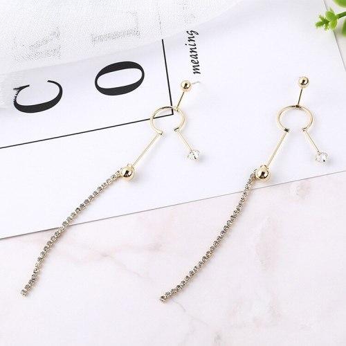 Korean Style Tassel Earrings Female S925 Silver Needle Anti-Allergy Creative Fashion Snow Doll Ear Stud Wholesale 138830