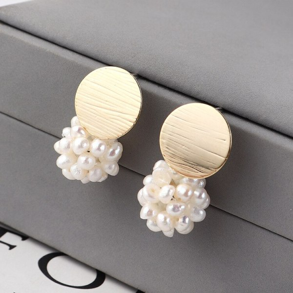 S925 Sterling Silver Needle New South Korea Hipster Cute Natural Pearl Earrings Girls Ornament Wholesale 139839